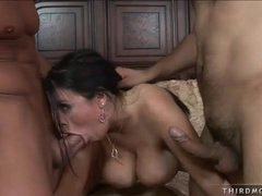 Daphne Rosen is a busty whore who loves taking two dicks at once